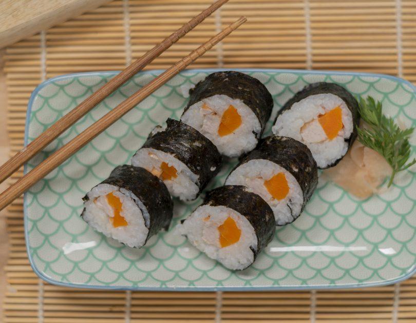 Sushi de gall dindi